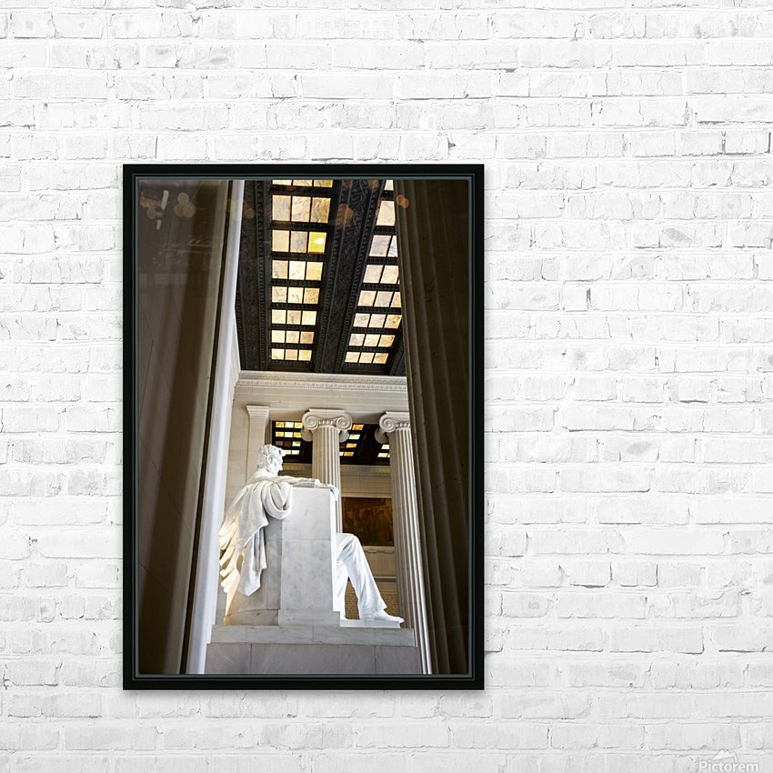 Lincoln Memorial HD Sublimation Metal print with Decorating Float Frame (BOX)