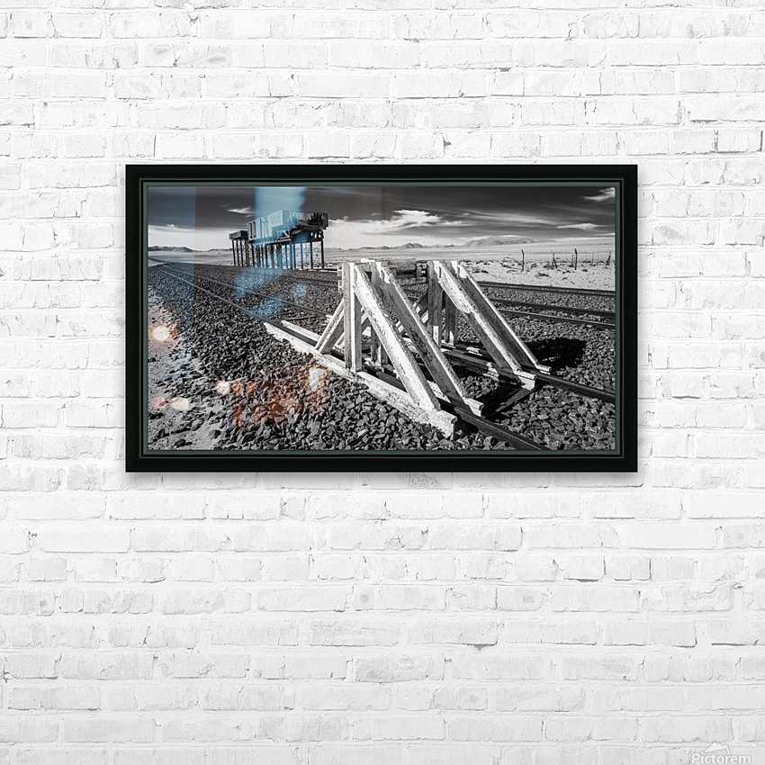 Refuelling Point  HD Sublimation Metal print with Decorating Float Frame (BOX)