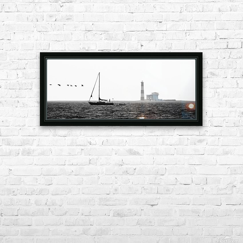 Passing by the Lighthouse HD Sublimation Metal print with Decorating Float Frame (BOX)