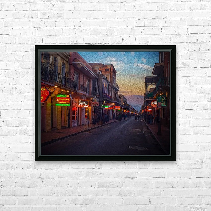 Evening in the Big Easy HD Sublimation Metal print with Decorating Float Frame (BOX)