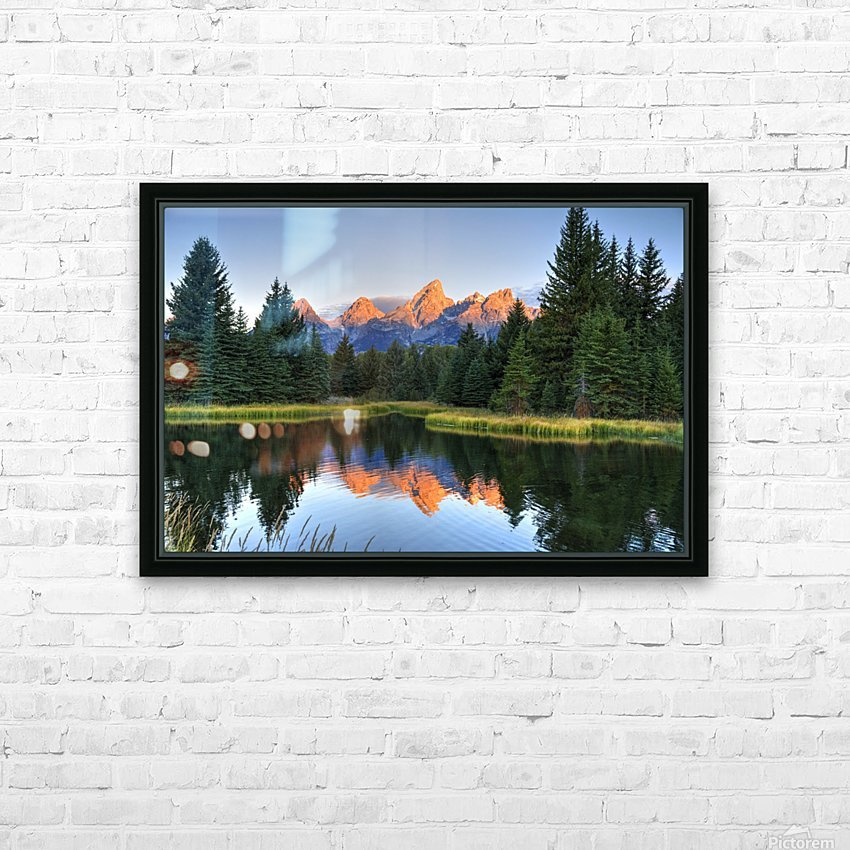 Beavers View of Tetons HD Sublimation Metal print with Decorating Float Frame (BOX)