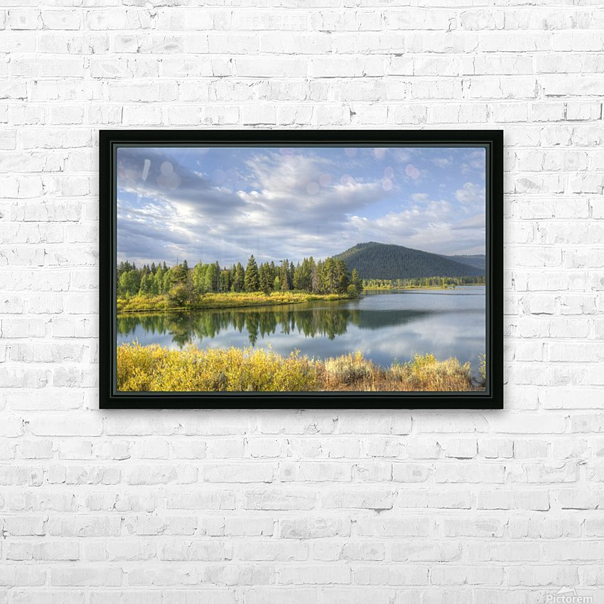 Snake River Charm HD Sublimation Metal print with Decorating Float Frame (BOX)