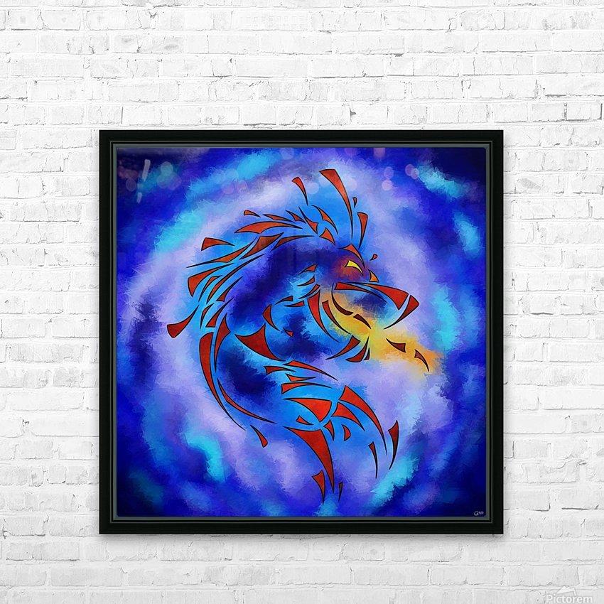 Glenfbach V1 - mystic dragon HD Sublimation Metal print with Decorating Float Frame (BOX)