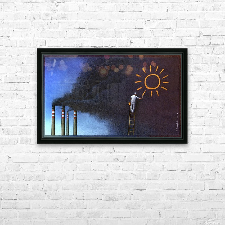 Sun HD Sublimation Metal print with Decorating Float Frame (BOX)