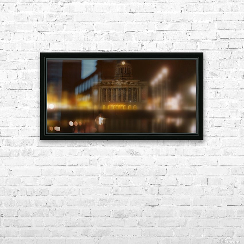 Nottingham council house HD Sublimation Metal print with Decorating Float Frame (BOX)