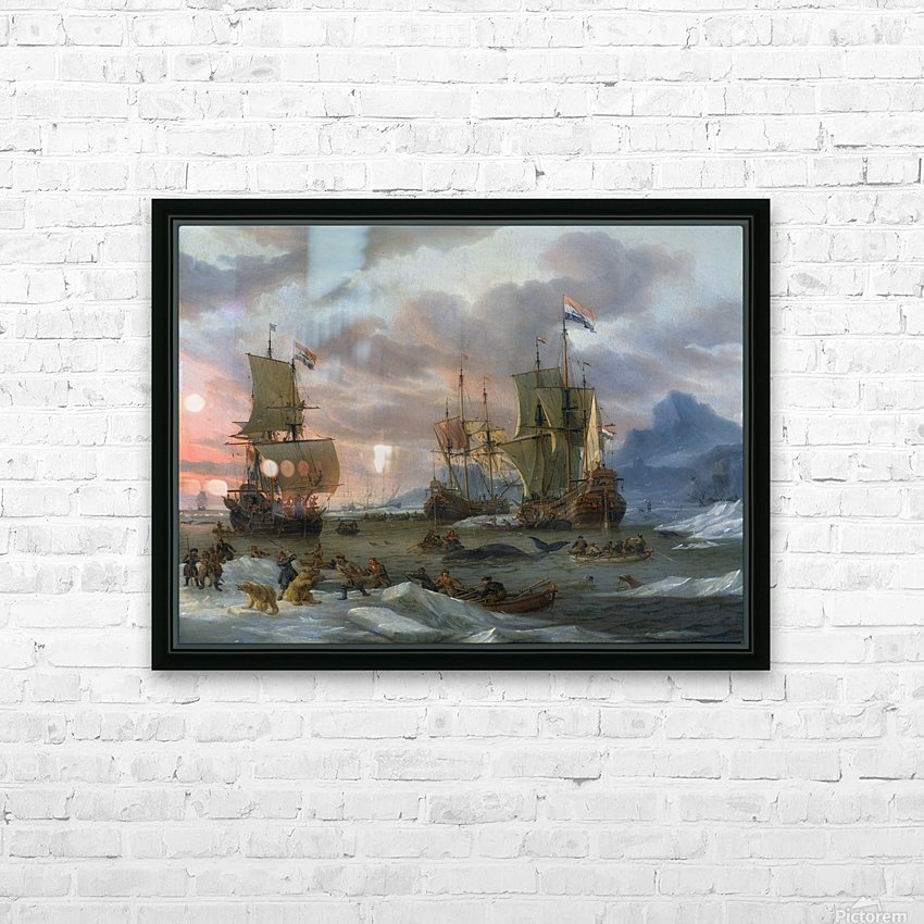 Walvisvangst HD Sublimation Metal print with Decorating Float Frame (BOX)