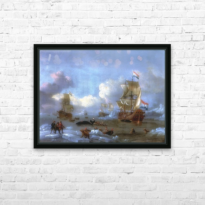Walfang im Eismeer HD Sublimation Metal print with Decorating Float Frame (BOX)