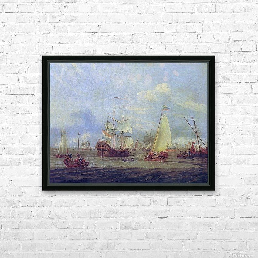 Peter the Great inspecting ship at Amsterdam HD Sublimation Metal print with Decorating Float Frame (BOX)