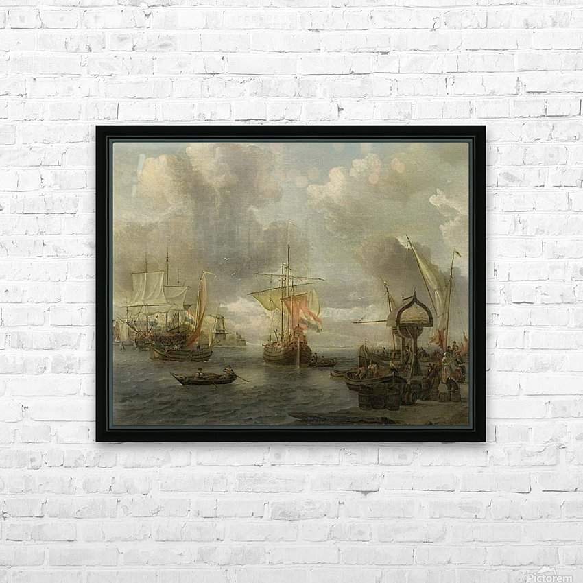 View of a Harbour on the Zuiderzee HD Sublimation Metal print with Decorating Float Frame (BOX)