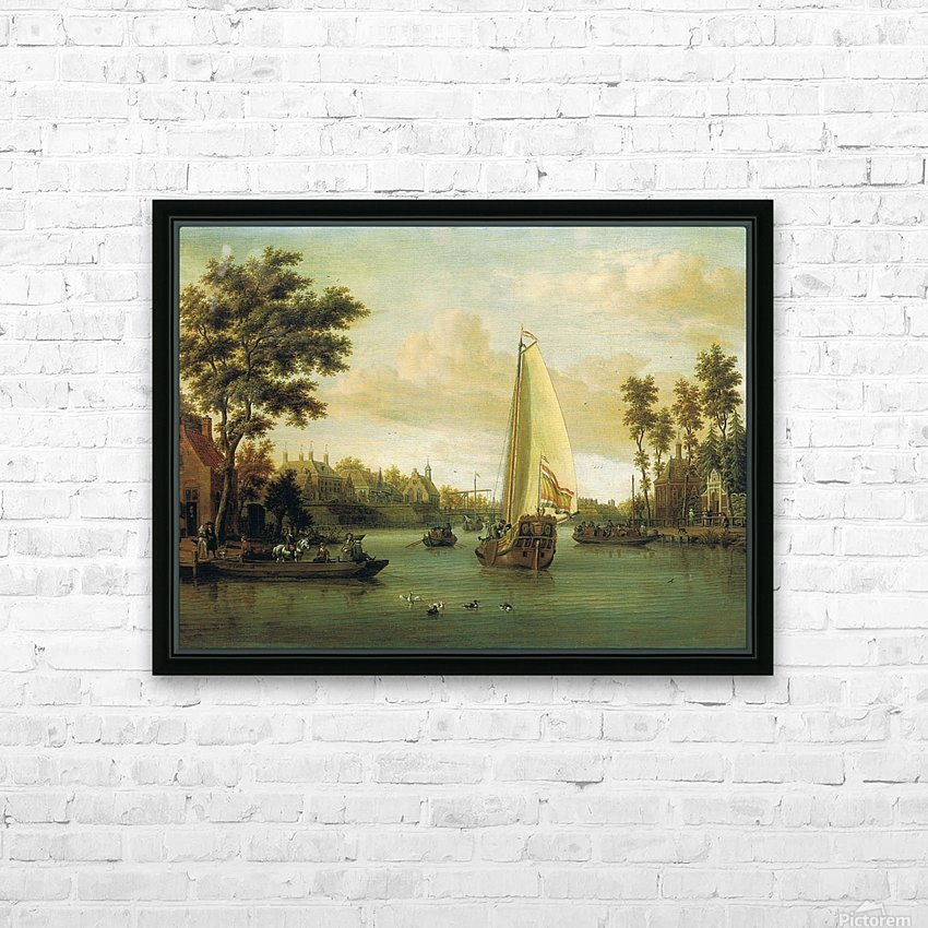 View of Maarsen on the Vecht HD Sublimation Metal print with Decorating Float Frame (BOX)