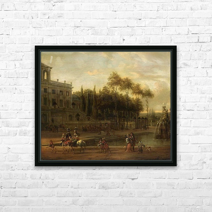 Italianate park landscape HD Sublimation Metal print with Decorating Float Frame (BOX)