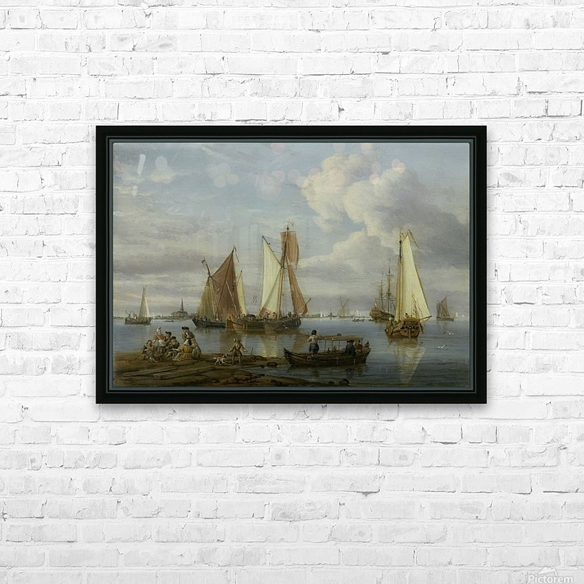 Dutch Shipping in an Estuary HD Sublimation Metal print with Decorating Float Frame (BOX)