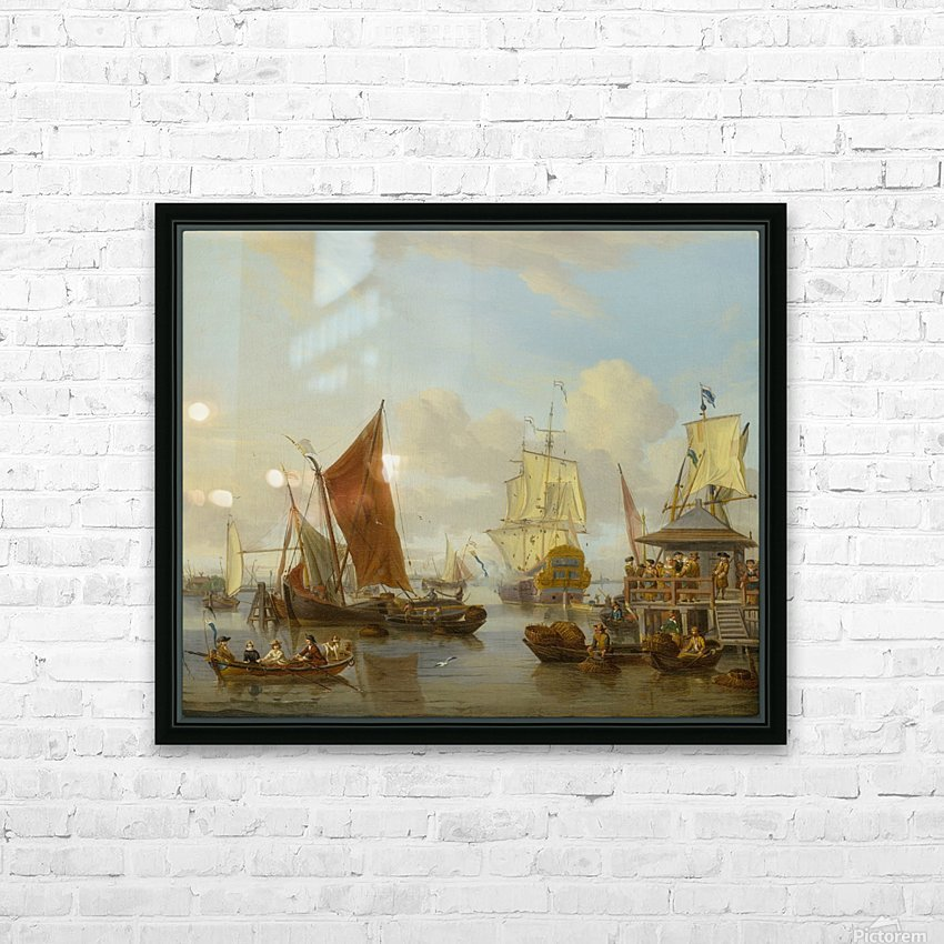 Shipping off Amsterdam HD Sublimation Metal print with Decorating Float Frame (BOX)