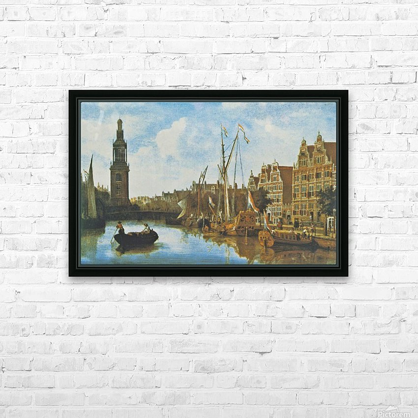 Singel in Amsterdam with the Jan Roodenpoortstoren HD Sublimation Metal print with Decorating Float Frame (BOX)