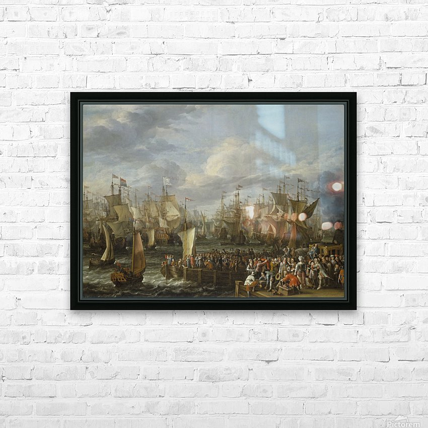 Departure of William III from Hellevoetsluis, 19 October 1688 HD Sublimation Metal print with Decorating Float Frame (BOX)