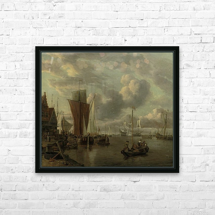 Quayside with extensive shipping HD Sublimation Metal print with Decorating Float Frame (BOX)