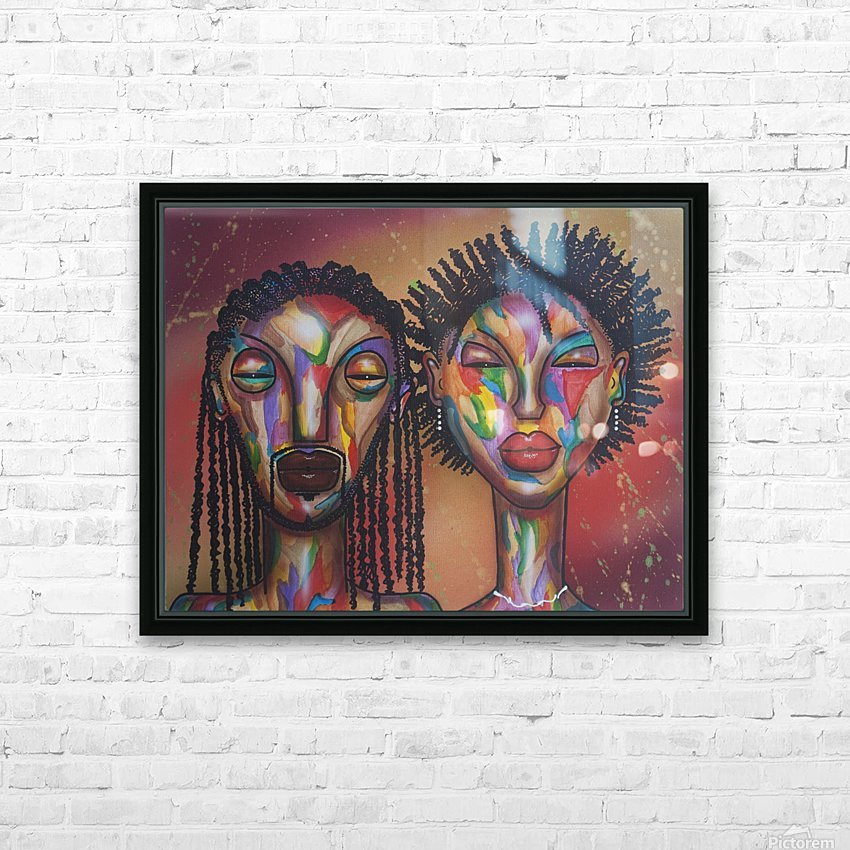 soulmates HD Sublimation Metal print with Decorating Float Frame (BOX)