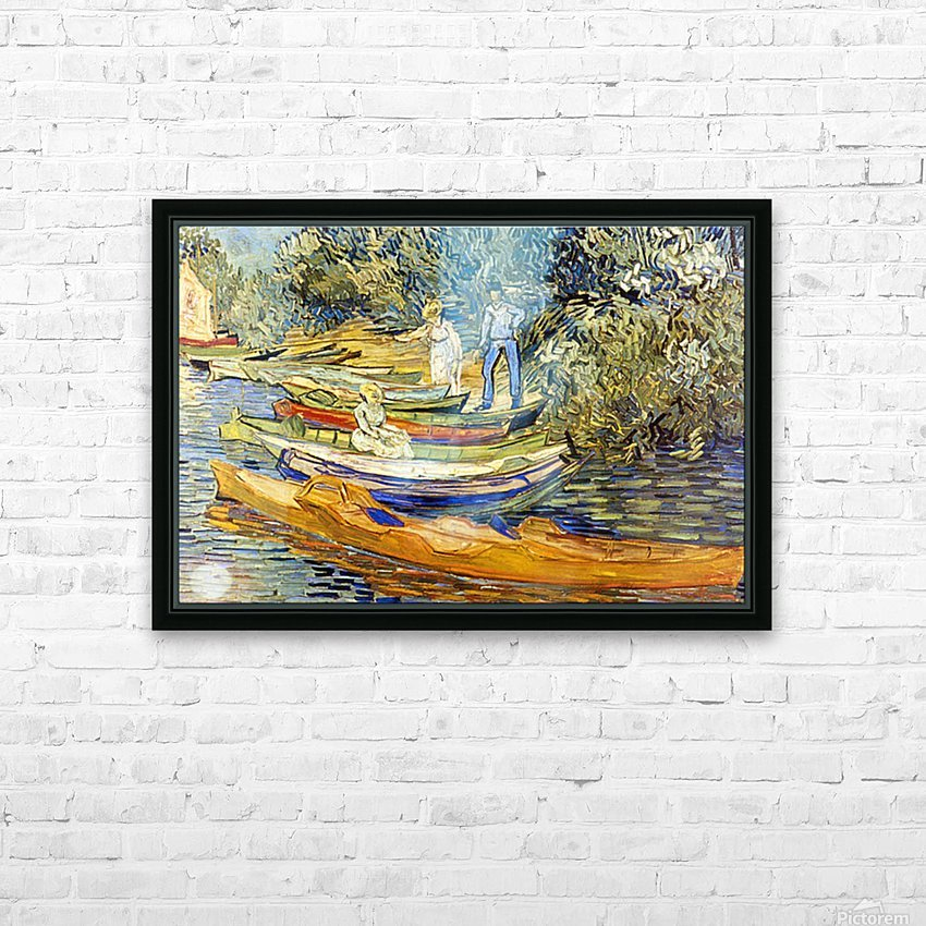 The Riverbank, La Grenouillere by Van Gogh HD Sublimation Metal print with Decorating Float Frame (BOX)