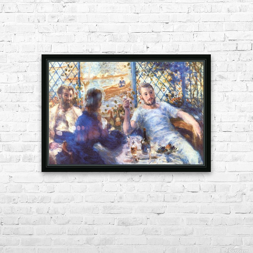 The Rowers Lunch by Renoir HD Sublimation Metal print with Decorating Float Frame (BOX)