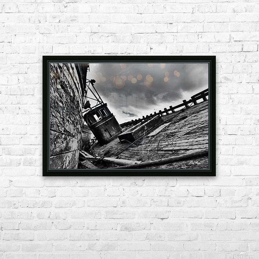 Angled wreck HD Sublimation Metal print with Decorating Float Frame (BOX)