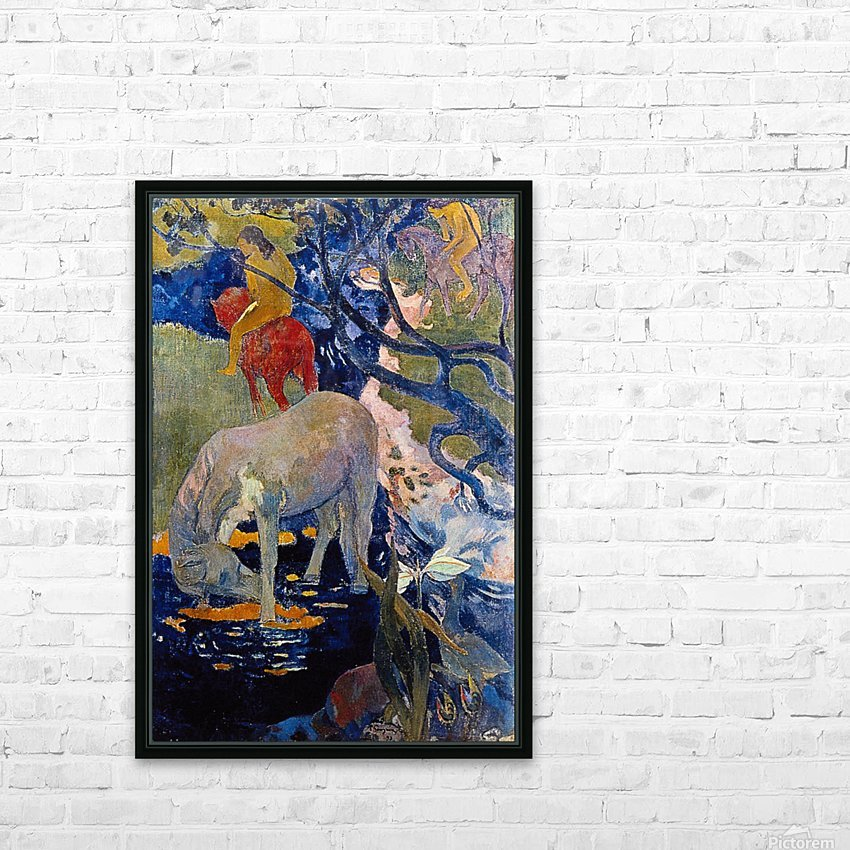 The White Horse by Gauguin HD Sublimation Metal print with Decorating Float Frame (BOX)