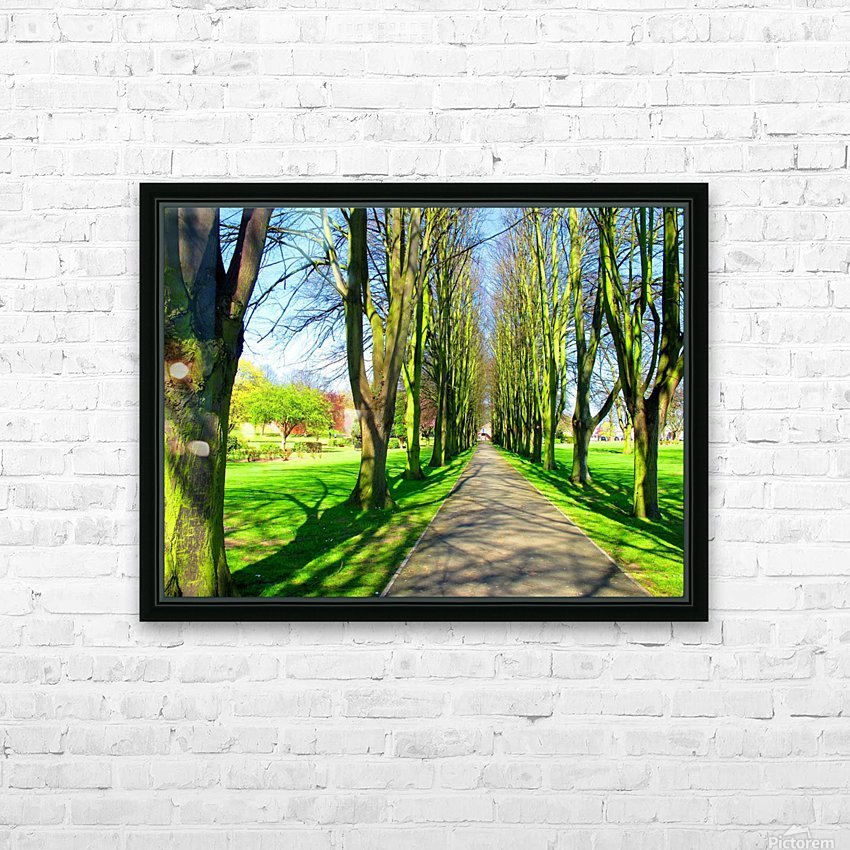 Summer Avenue HD Sublimation Metal print with Decorating Float Frame (BOX)