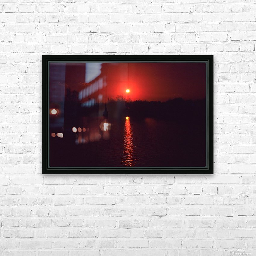 Sunset filter HD Sublimation Metal print with Decorating Float Frame (BOX)