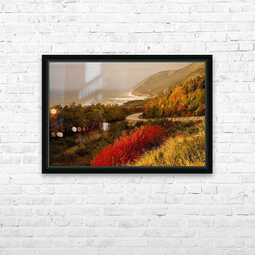 Autumn on the Cabot Trail HD Sublimation Metal print with Decorating Float Frame (BOX)