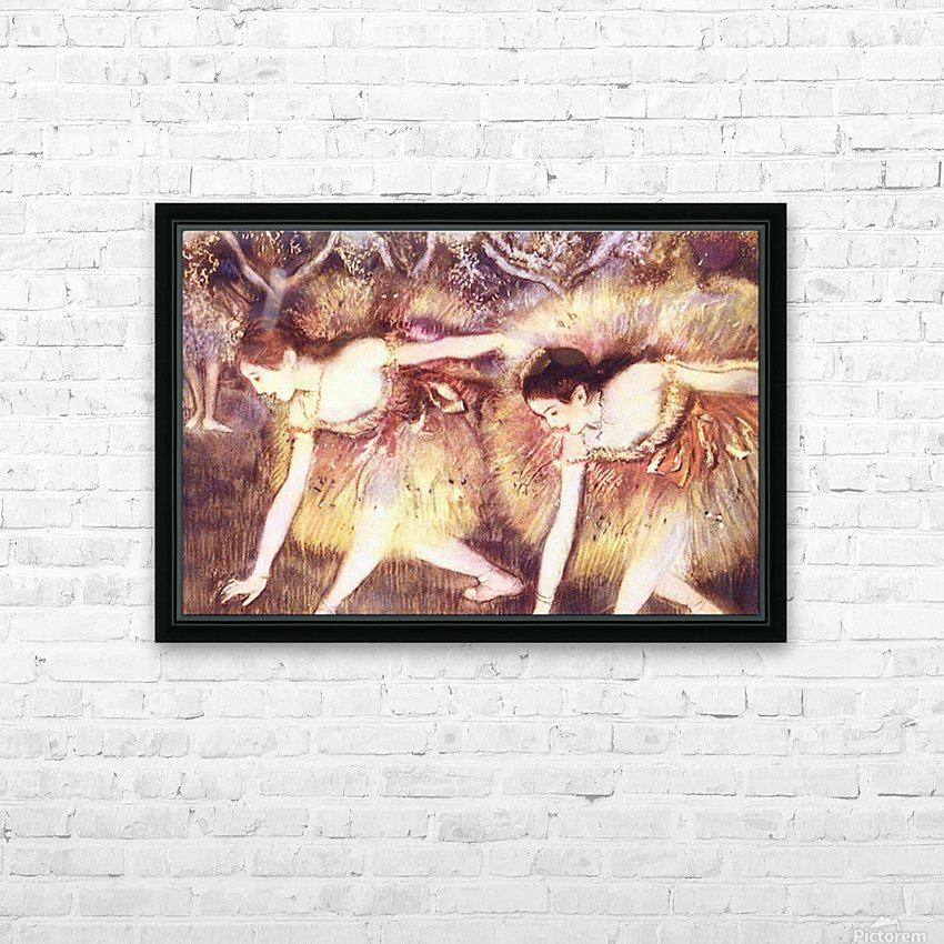 Two Dancers by Degas HD Sublimation Metal print with Decorating Float Frame (BOX)