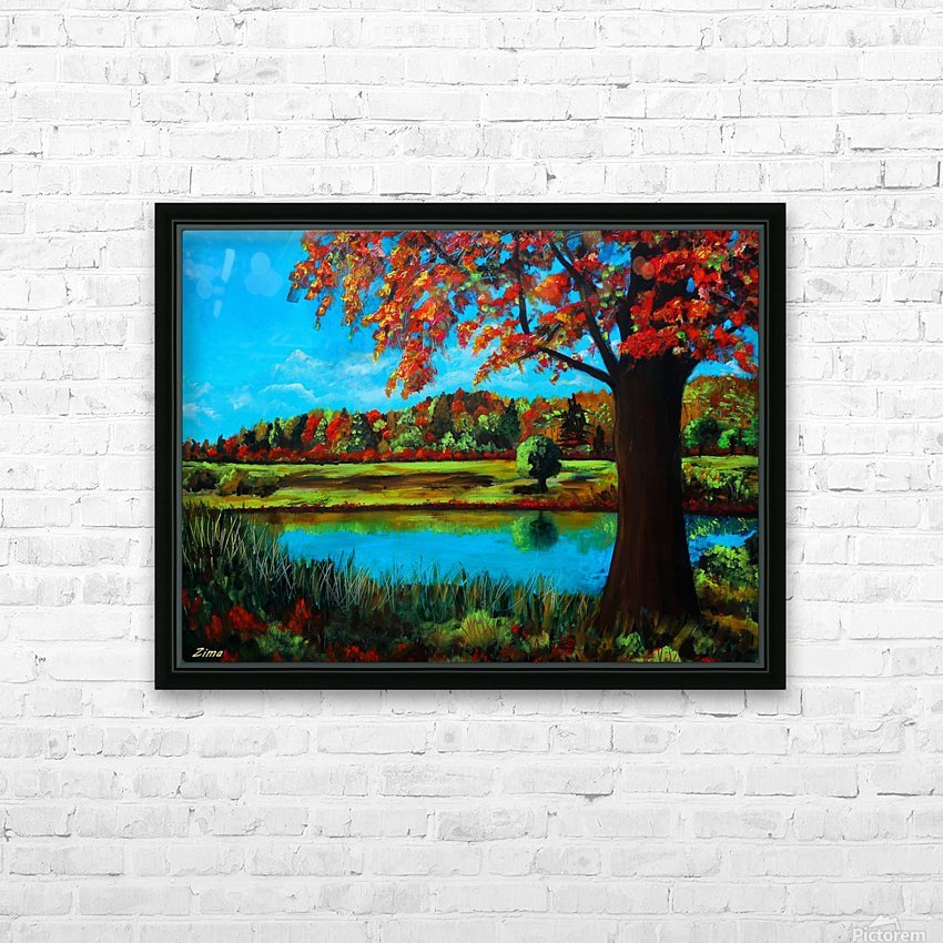 Autumn Song HD Sublimation Metal print with Decorating Float Frame (BOX)