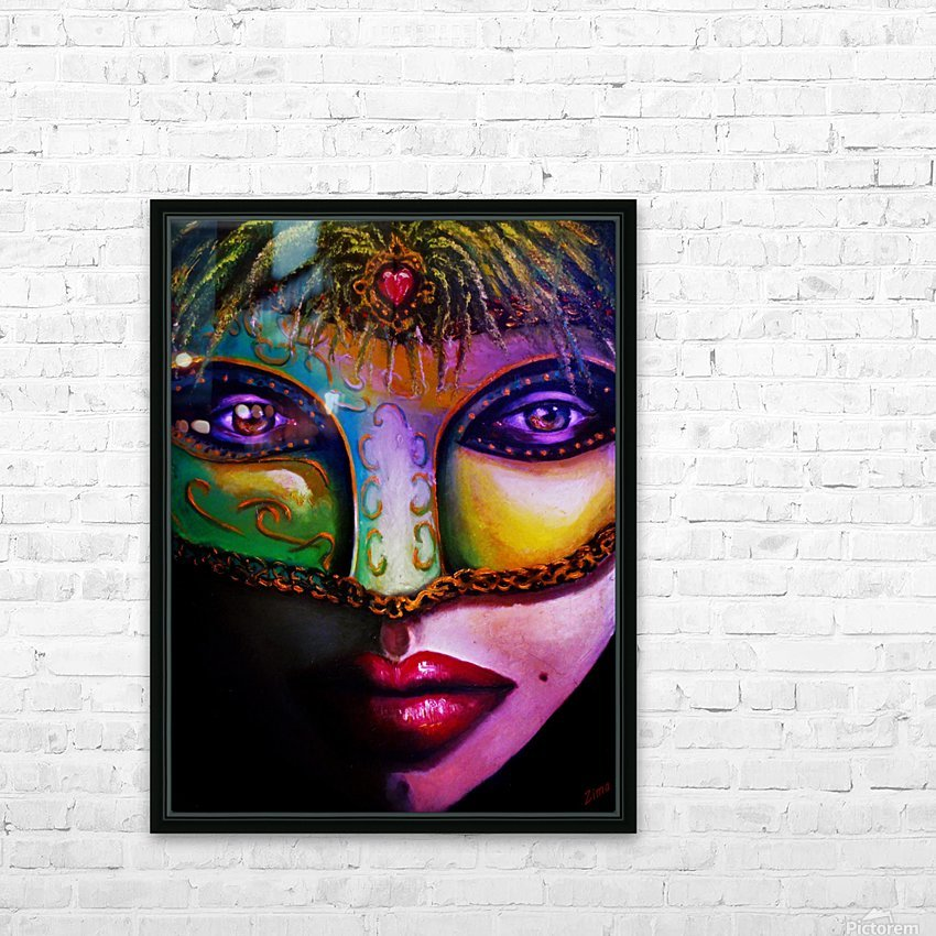 beneath the mask HD Sublimation Metal print with Decorating Float Frame (BOX)