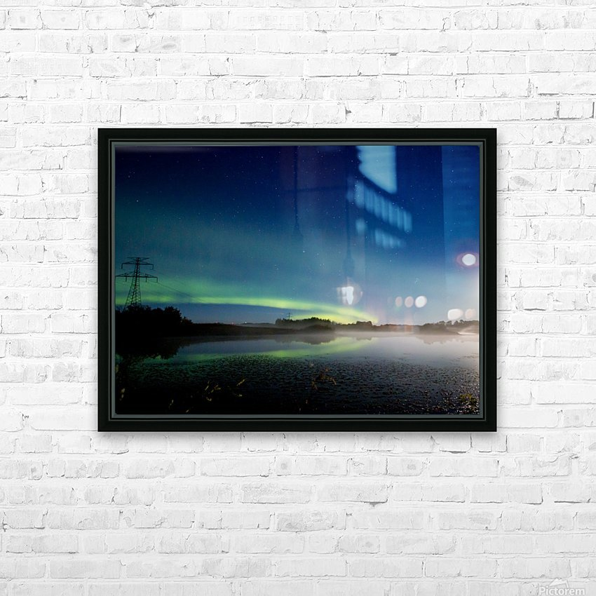 Moonlit Aurora HD Sublimation Metal print with Decorating Float Frame (BOX)