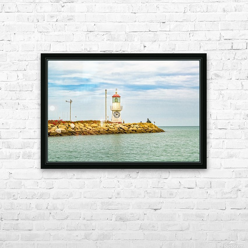 Rock Breakwater Salinas Ecuador HD Sublimation Metal print with Decorating Float Frame (BOX)