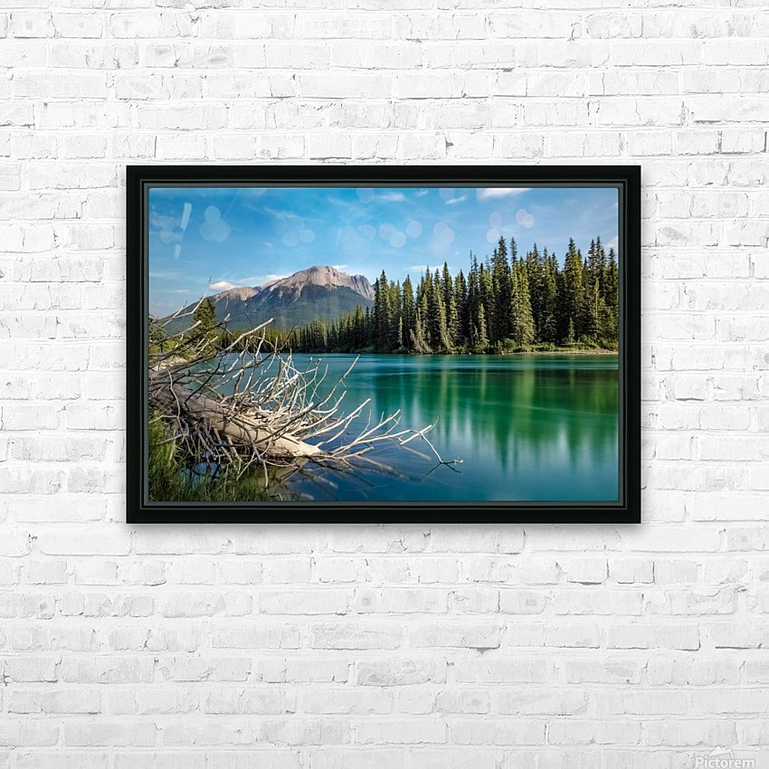 Summer Bow river HD Sublimation Metal print with Decorating Float Frame (BOX)
