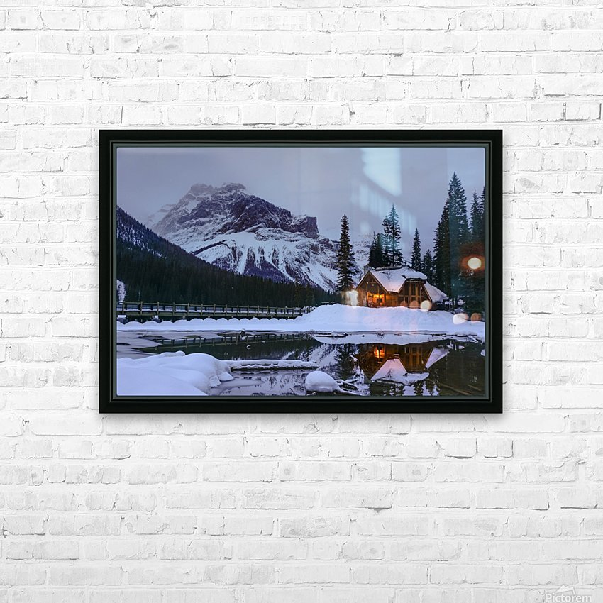 Emerald Lake Lodge HD Sublimation Metal print with Decorating Float Frame (BOX)