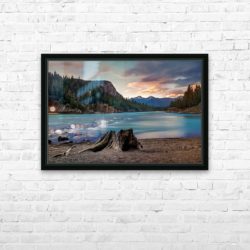 Bow River HD Sublimation Metal print with Decorating Float Frame (BOX)