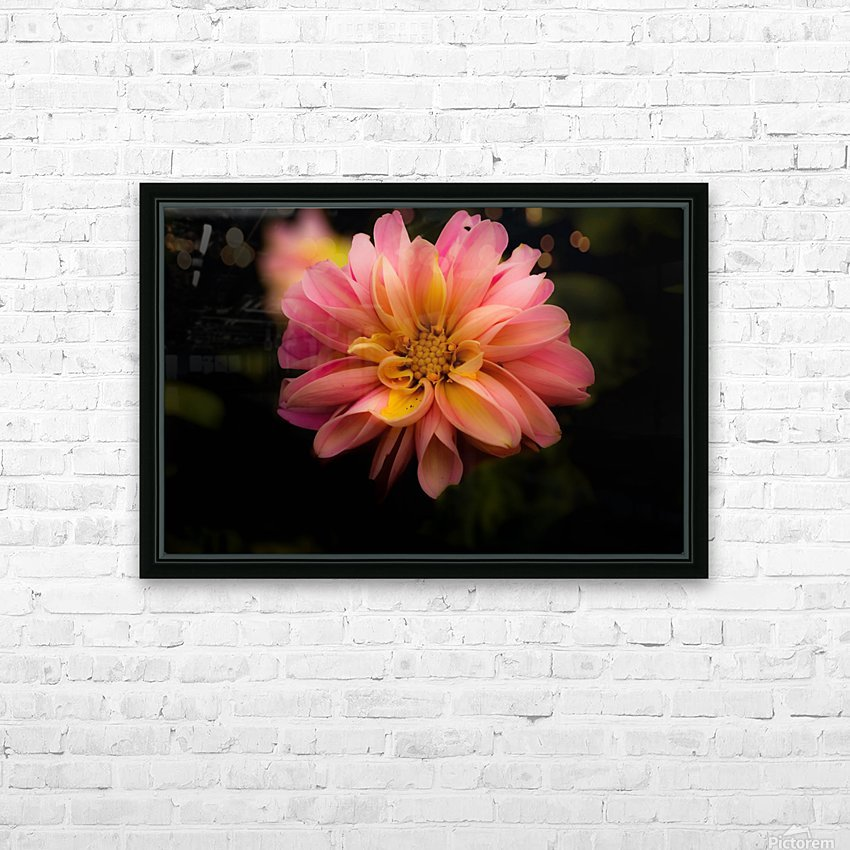 Dahlia  HD Sublimation Metal print with Decorating Float Frame (BOX)