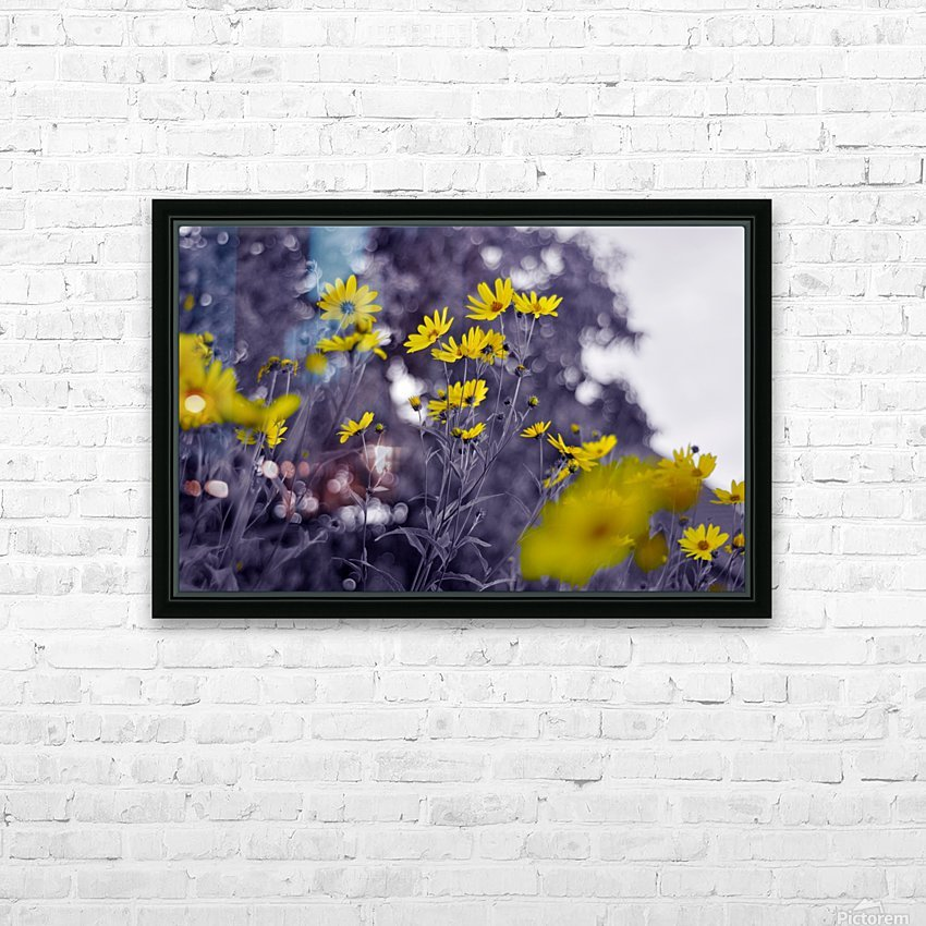Still yellow HD Sublimation Metal print with Decorating Float Frame (BOX)