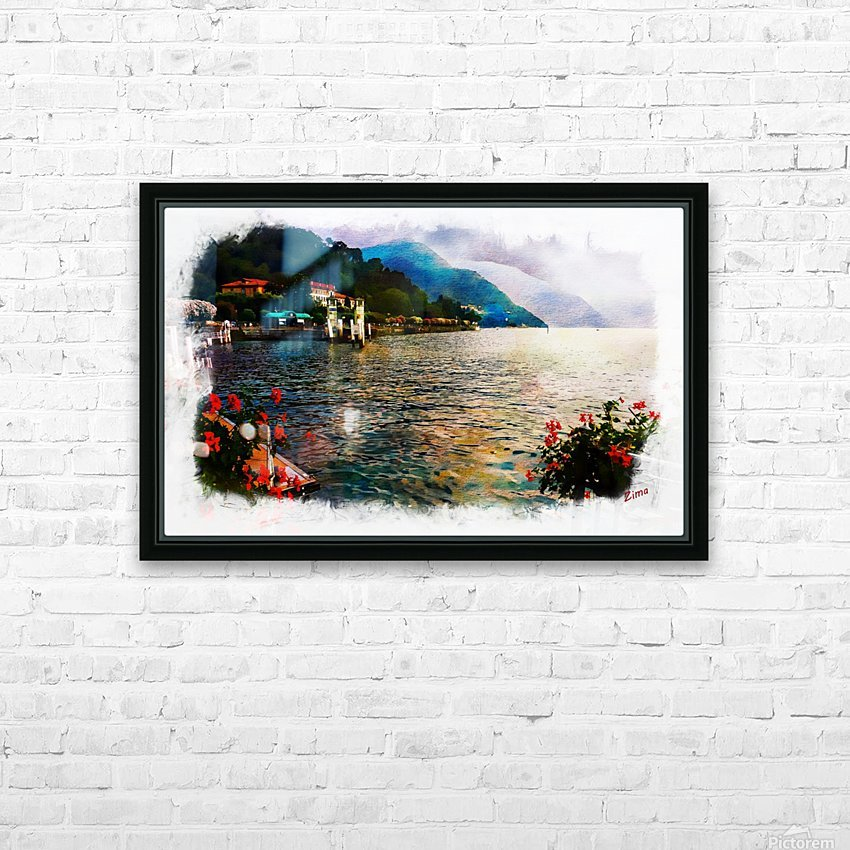 watercolor como HD Sublimation Metal print with Decorating Float Frame (BOX)