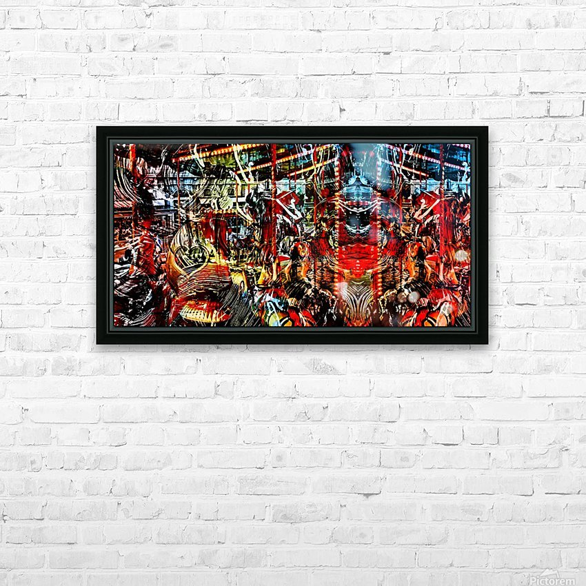 The World  Becomes a Blur HD Sublimation Metal print with Decorating Float Frame (BOX)
