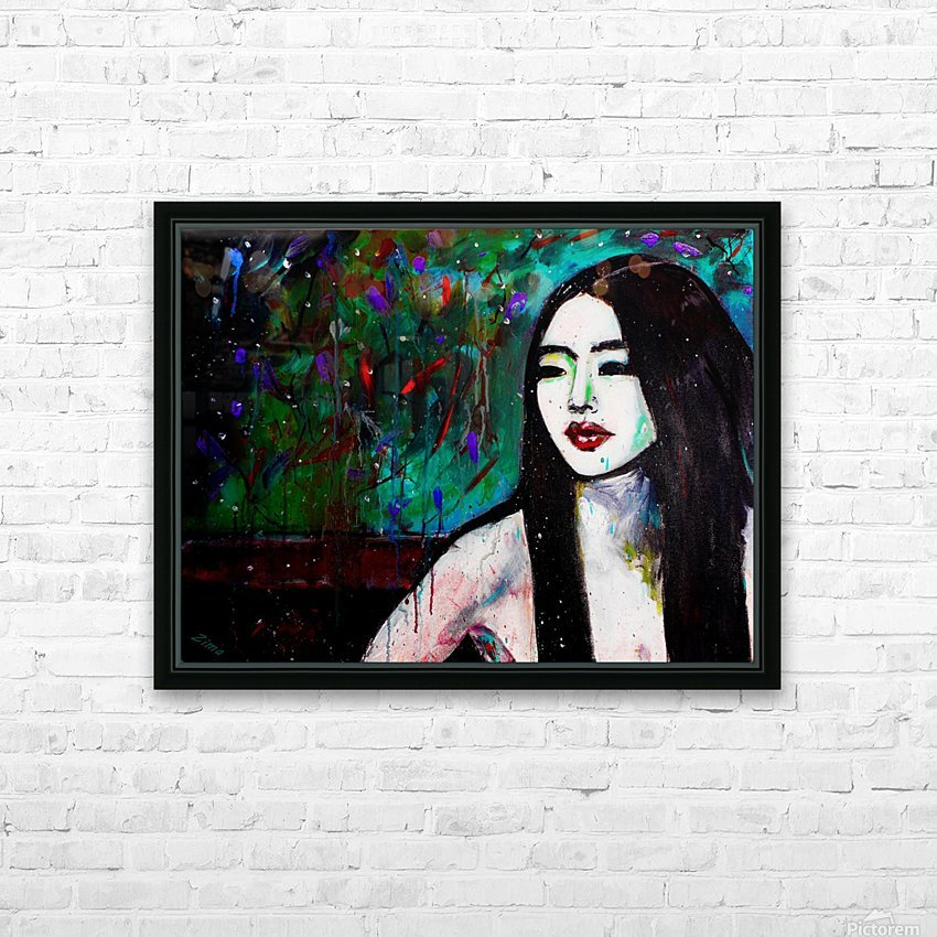 Asian Girl HD Sublimation Metal print with Decorating Float Frame (BOX)