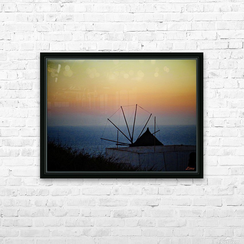 Santorini Sunset HD Sublimation Metal print with Decorating Float Frame (BOX)