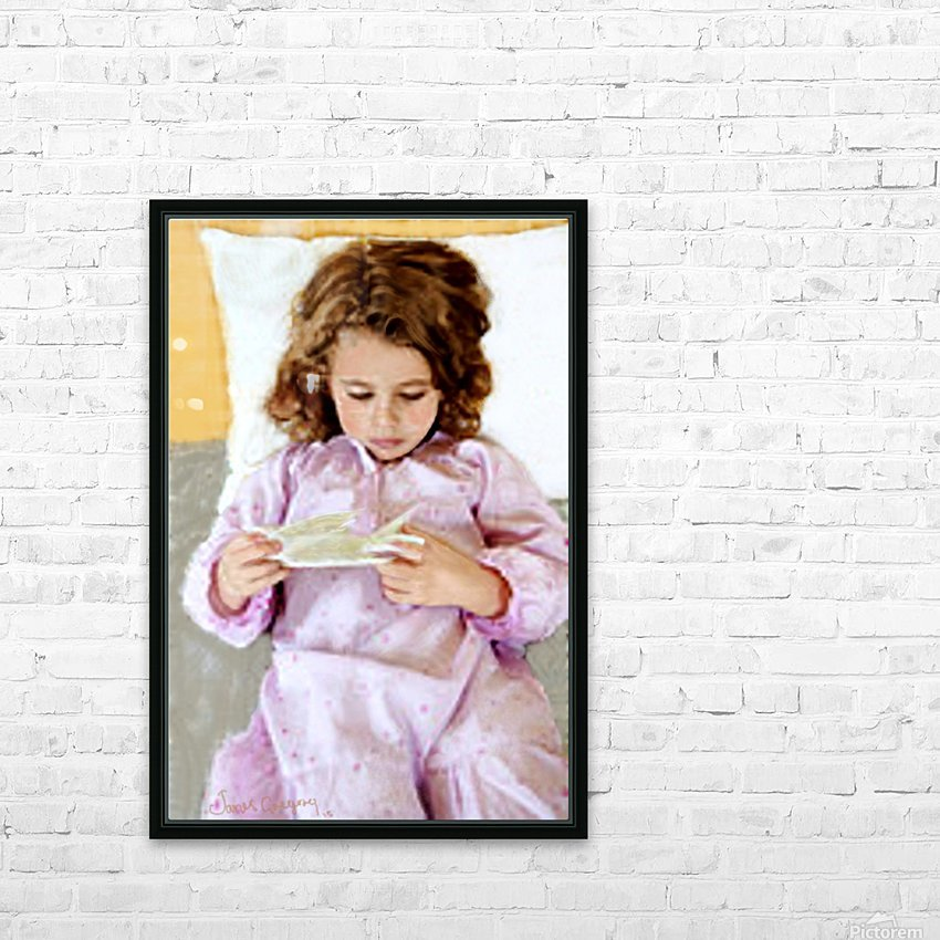 girl and bird by J Gregory  HD Sublimation Metal print with Decorating Float Frame (BOX)