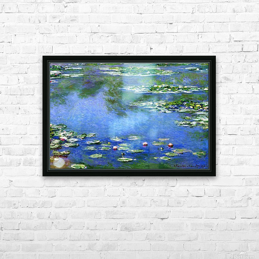 Water Lilies by Monet HD Sublimation Metal print with Decorating Float Frame (BOX)