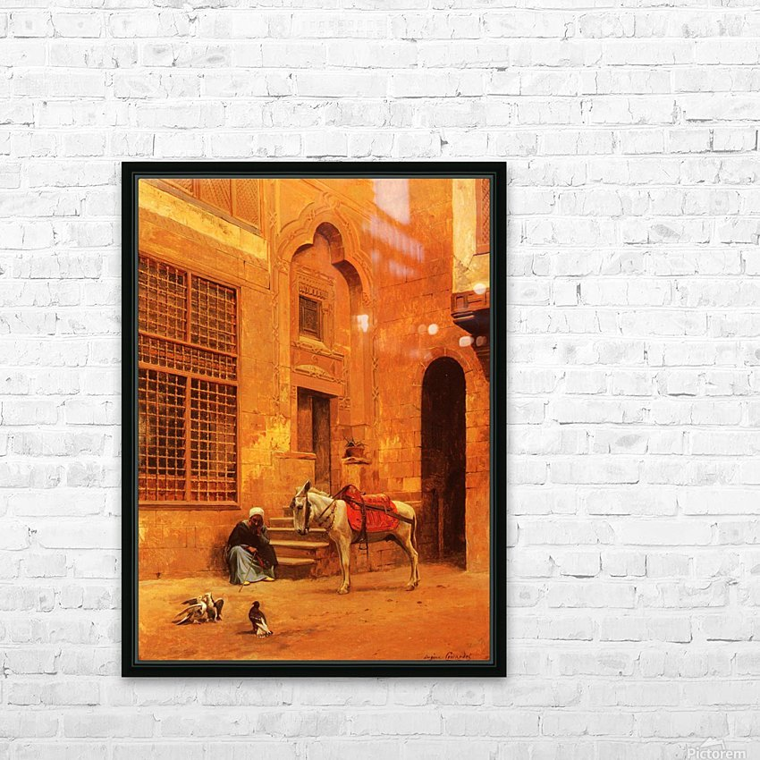 The Courtyard HD Sublimation Metal print with Decorating Float Frame (BOX)