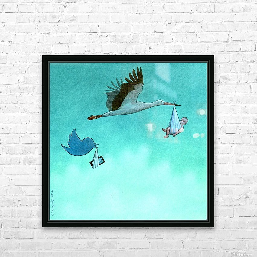 birth HD Sublimation Metal print with Decorating Float Frame (BOX)