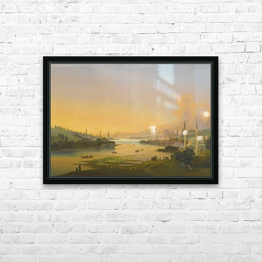 Sunrise over the Golden Horn HD Sublimation Metal print with Decorating Float Frame (BOX)