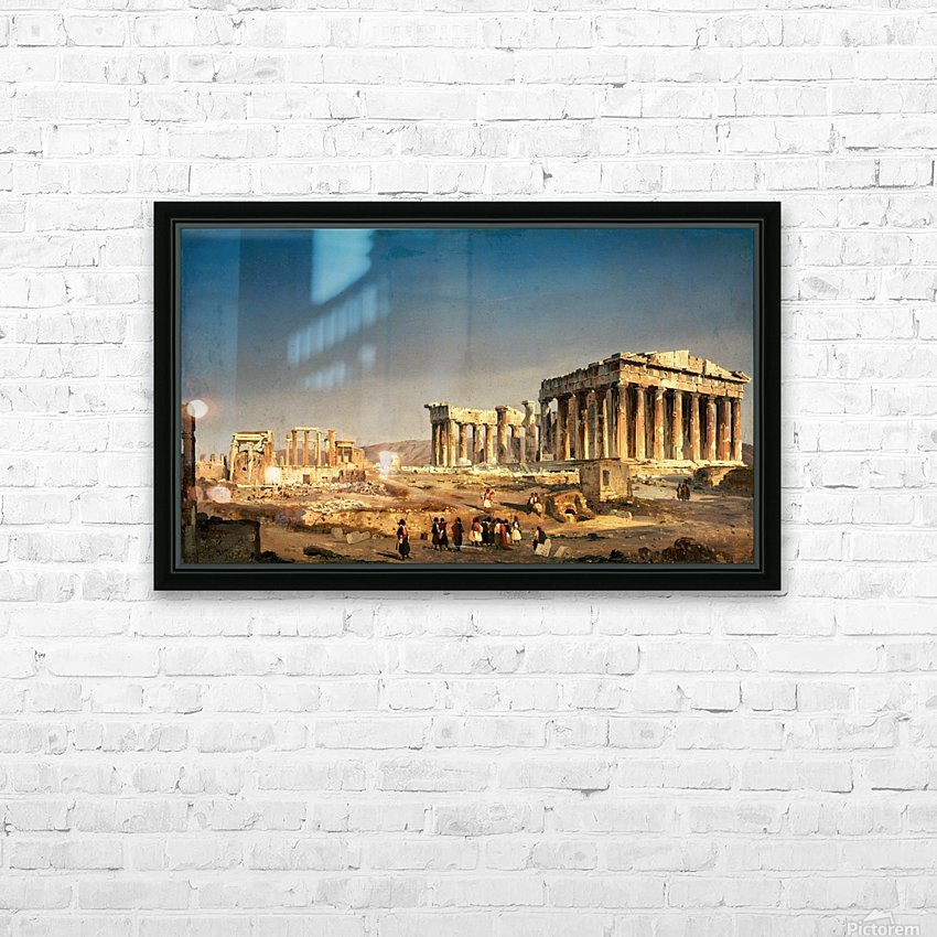 The Partenon HD Sublimation Metal print with Decorating Float Frame (BOX)