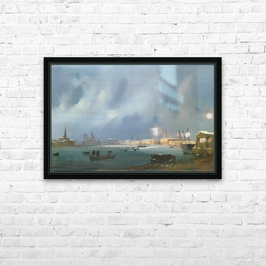 View of St. Mark's Basin in Venice under the snow HD Sublimation Metal print with Decorating Float Frame (BOX)