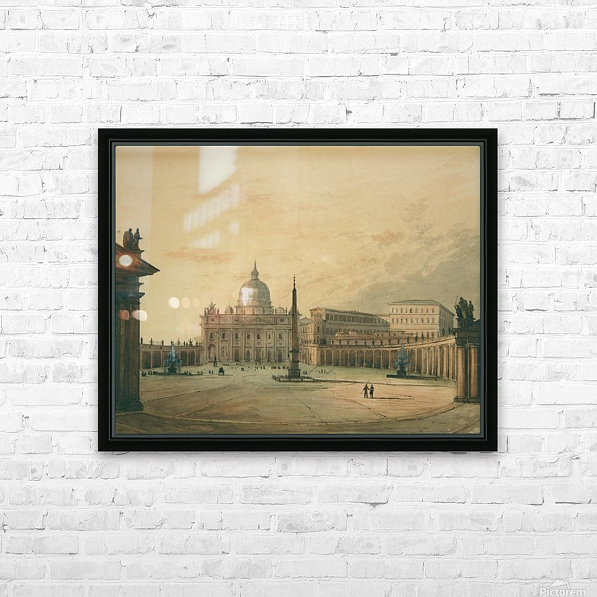 View of Saint Peter Square HD Sublimation Metal print with Decorating Float Frame (BOX)